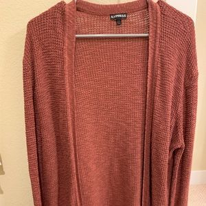 Chestnut bell-sleeve sweater